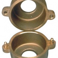 Small circular flask for bridges and crowns