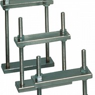Chromium steel clamps for the hydraulic press